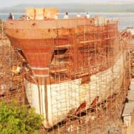 Bharati Shipyard up 15%, Edelweiss may infuse funds into co