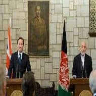 Britain's Cameron pushes peace in Afghanistan