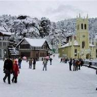 A snow clad New Years eve in Shimla