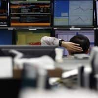 Asian shares hit by Wall Street fall, China PMI in focus