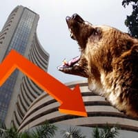Weak global cues drag Sensex 243 pts; rupee at 5-month low