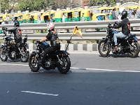 Harley-Davidson riders on rally in support of child rights