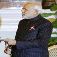 PM Modi's monogrammed suit auctioned for Rs 4.31 crore