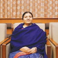 Nepal president Bidya Devi Bhandari leaves for India