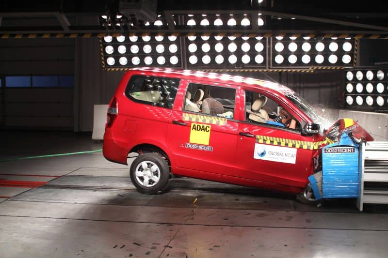 Chevrolet Enjoy fails NCAP crash safety test